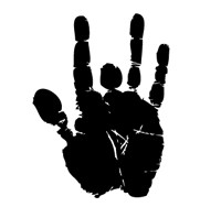 Jerry Garcia Hand Print Sticker